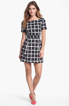 French Connection Print Fit & Flare Dress | Nordstrom