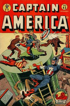 Captain America Comics # 43 by Syd Shores