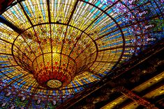Palau de La Musica in Barcelona, Spain. Architect:  Lluís Domènech i Montaner. #Art #Colors