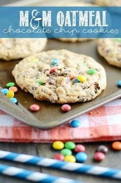 M&M Oatmeal Chocolate Chip Cookies Recipe