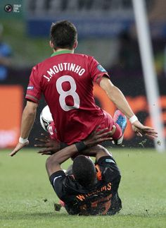 Joao Moutinho and Jetro Willems. Portugal vs The Netherlands 2:1