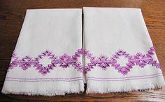Vintage Kitchen Towels Vintage Swedish  Huck Towels Vintage