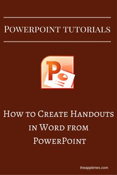In this PowerPoint tutorial, we'll show you how to create handouts in Word from…