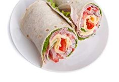 The 50 Healthiest Snacks. Sate a salt craving 1 Subway Turkey Breast Wrap calories)* Healthy Snacks, Healthy Recipes, Healthiest Snacks, Ham Wraps, Snack Recipes, Cooking Recipes, High Protein Low Carb, Cold Meals, Wrap Sandwiches