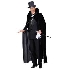Schwarzer Samtumhang Vampir Cape Graf Dracula Halloween Gewand Umhang Kostüm | eBay