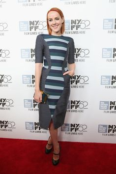 Pin for Later: It May Be Fall, But You Wouldn't Know It Judging From These Stars' Outfits Jena Malone Jena Malone in Thom Browne at the New York Film Festival premiere of Time Out of Mind.