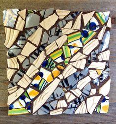 mosaic trivet with handmade stoneware shards by LimeKilnFarm, $40.00