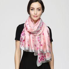 2017 Fashion Scarf Luxury Brand bandana hijab Femme Spring Flower Cherry blossoms Scarf Shawl Women Sakura Scarves YAU047