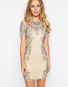 ASOS Embellished Metallic Bead Body-Conscious Dress ($154)