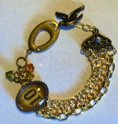 Lovely bracelet.  It is actually primarily brass.  $25.00