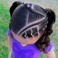 Dance Hairstyles, Cute Hairstyles, Braided Hairstyles, Cute Little Girl Hairstyles, Baby Girl Hair, Gorgeous Hair, Beautiful, Toddler Hair, Little Girl Fashion