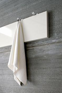 Steel coat hangers for bathroom towels by Rexa design _