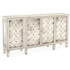 Bonet Hollywood Regency Grillwork Antique White Mirrored Sideboard... (7 175 AUD) ❤ liked on Polyvore featuring home, furniture, storage & shelves, sideboards, outdoors furniture, 2 tier shelf, antique white furniture, outdoor furniture and ivory furniture