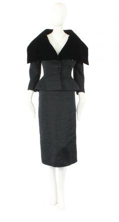 A Balenciaga haute couture suit, circa 1951
