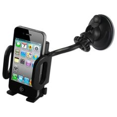 Reiko Phone holder stand for car (suction on glass) iPhone BLACK