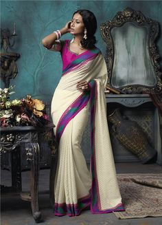 Laxmipati is a leading brand of India for Sarees. We deliver ecofriendly Designer Printed Sarees, Party wear, Office wear, Chiffon, Georgette Sarees. Laxmipati Sarees, Georgette Sarees, Saris, Pakistani Outfits, Indian Outfits, Indian Clothes, Blouse Online, Sarees Online, Sari Blouse Designs
