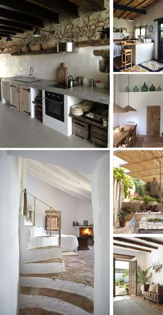 Rural style in the decoration: the rustic is also worth in summer. Küchen Design, House Design, Rural House, Interior Architecture, Interior Design, Spanish House, Rustic Kitchen, Kitchen Interior, Old Houses