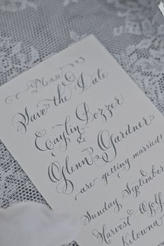 Custom Hand Calligraphy Save the Date  Hand by LavenderCalligraphy, $90.00