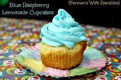 Blue Raspberry Lemonade Cupcakes - Farmer's Wife Rambles