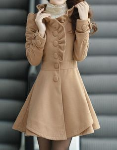 http://www.etsy.com/es/shop/happyfamilyjudy Khaki / Red /Blue wool women coat women dress por happyfamilyjudy, $88.99