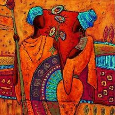 African Art gallery for African Culture artwork, abstract art, contemporary art daily, fine art, paintings for sale and modern art Arte Tribal, Tribal Art, Afrique Art, African Quilts, African Paintings, Canadian Art, Afro Art, African American Art, Illustrations
