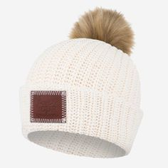700395dd4d26f This pom beanie is knit from 100% cotton yarn in natural and white colors  and