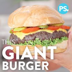 Yes, we really went there: this is a three-pound burger, and you need it in your life. It's no secret that supersize foods are better than their regular counterparts, and that's especially true when it comes to burgers. Instead of making individual cheeseburgers at your next cookout, serve up this giant one perfect for sharing.