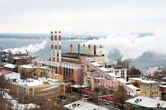 Зимняя Самара | Самарская ГРЭС. Работает с 1900 года.