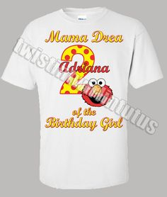 Adult Elmo Mom Birthday Shirt