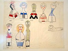 Alexander Girard, the Designer Who Made American Modernism Less Sterile #alexandergirard drawings @hermanmiller @vitra