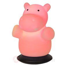 Lampe à poser veilleuse LED Hippo, référence 6054441 - Veilleuses pour enfant et bébé chez Luminaire.fr - Frais de port offerts dès 99€ d'achats.
