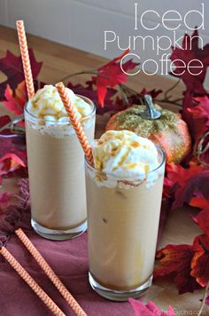 Iced Pumpkin Coffee | 17 Pumpkin Drinks to Try This Fall | @hercampusjmu