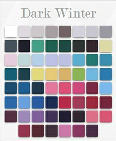Dark winter colors