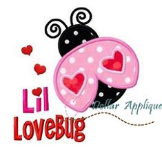 Lil Lovebug Applique - 3 Sizes! | Valentine's Day | Machine Embroidery Designs | SWAKembroidery.com Dollar Applique