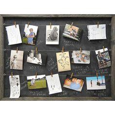 Chalkboard memory board