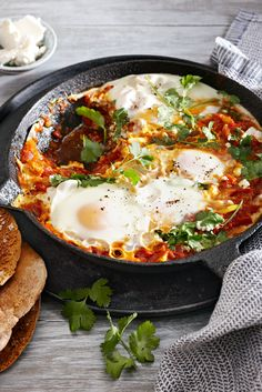 Israeli Poached Eggs (Shakshuka) #FamilyCircleHealthyFamilyDinners #eggs #breakfast
