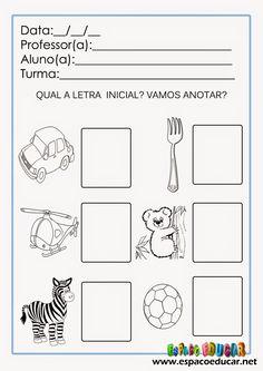 ESPAÇO EDUCAR: Atividades de alfabetização para imprimir: trabalh...