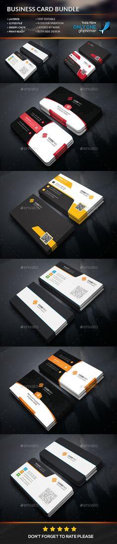 Creative Corporate Business Card Bundle Template #design Download: http://graphicriver.net/item/creative-corporate-business-card-bundle/12114925?ref=ksioks