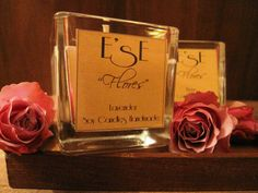 Soy Wax Medium Candles Flores Rose Lavender by EstherEssenceCandles su Etsy