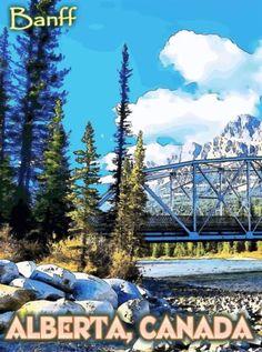 Banff-National-Park-Alberta-Canada-United-States-Travel-Advertisement-Poster