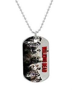 Hot TV The Walking Dead Cool Poster Custom Dog Tag with Neck Chain Aluminum Oval Dog Tag Large Size Necklace Design by Stbenn *** Check out this great product.