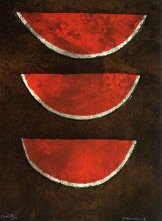 Rufino Tamayo -Watermelons (Sandias),1973. Stone lithograph on paper