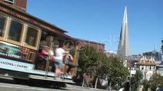 Cable car and Transamerican Pyramid San Francisco - Stock Footage | by TravelTelly