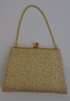60s Gold and Cream Elbief Evening Bag by VeryVintageClothing, £18.00