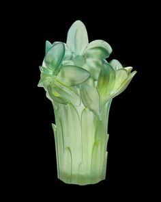 "Daum ""Amaryllis"" Vase - Neiman Marcus  #NMFallTrends"