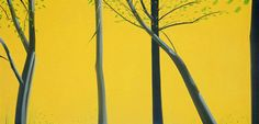 wetreesinart:  Alex Katz (Am. 1927- ), Gold and Black II, 1993, huile sur toile, 203 x 422 cm, Saatchi Gallery, Londres