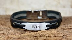Men's Bracelet Men Leather Bracelet Personalized by PukkaMen