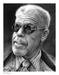 Ron Perlman Drawing - Ron Perlman by Greg Joens