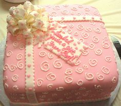 square baby girl shower cakes - Yahoo! Search Results