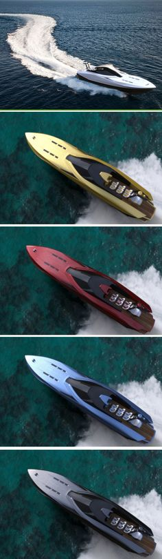 ♂ White yacht The Gran-Tender 72′ Powermachine by the yacht-masters at KEYFRAMESTUDIO is a redesign of the speed world record holder, the Viareggio-Izmir. from http://www.yankodesign.com/2012/09/12/75-indulgent-knots/